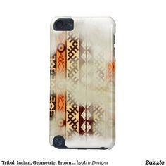 Tribal, Indian, Geometric, Brown Hue iPod Touch (5th Generation) Case