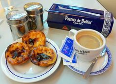 Pastel de Nata:The Portuguese pastry - lovely custard on which you put cinnamon. Or Pastéis de Belém as they call them in the Antiga Confeitaria de Belém. ( ~ expat's travels in portugal ~ ) Portugal Vacation, Places In Portugal, Portugal Trip, Portugal Travel, Portuguese Custard Tarts, Paraguay Food, Brunch Spots, Portuguese Recipes, Portuguese Food