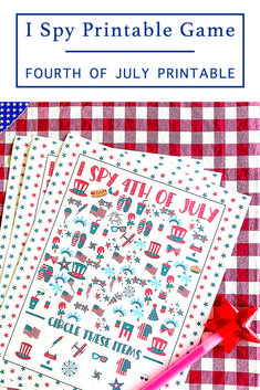 Play I Spy with a fun 4th of July twist with this F*R*E*E printable game from Everyday Party Magazine #4thOfJuly #PrintableGames #ISpy
