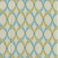 Dance Water Blue Woven Ornament Dot Design Upholstery Fabric