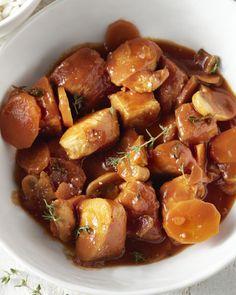 Een lekker winters stoofpotje met kalkoen, wortel, champignon, tomaat en rijst. Ideaal tijdens de koudere dagen om alle juiste vitamines binnen te krijgen.