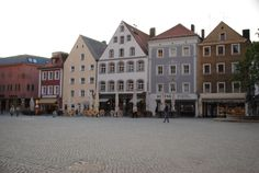 Marktplatz in the evening, Amberg, Bavaria, Germany
