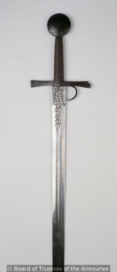 Italian sword c1400 with finger-guard