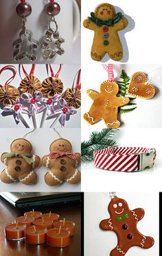 My gingerbread man cookie cutter earrings were featured! --Pinned with TreasuryPin.com