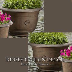 Brenta Planter Large Stone Outdoor Pot | Kinsey Garden Decor
