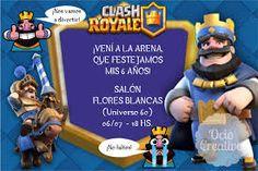 Resultado de imagen para clash royale invitacion para imprimir