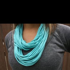 Repurposed t-shirt made scarf...