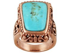 Timna Jewelry Collection (Tm) Fancy Cut Cabochon Turquoise Copper Ring