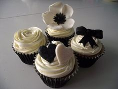 Champagne and black wedding cupcakes by Cupcake Occasions uk, via Flickr