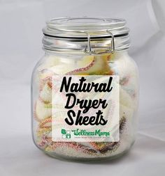 Natural dryer sheets combined with wool dryer balls are a great reusable alternative to artificially scented disposable dryer sheets. Homemade Cleaning Products, Cleaning Recipes, Natural Cleaning Products, Cleaning Tips, Natural Products, Cleaning Solutions, Cleaning Supplies, Beauty Products, Homemade Dryer Sheets