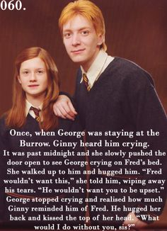 And yet again, I tear up over the death of a fictional person. I don't think I'll ever get over the death of Fred Weasley...