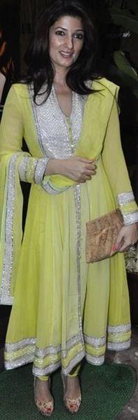 Twinkle Khanna in an Abu-Sandeep anarkali