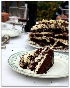 Un dimanche a la campagne: Le très gros gâteau d'anniversaire : Chocolate Irish whiskey cake