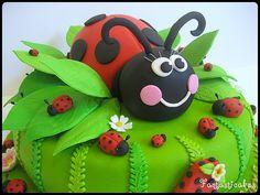 lots of ladybug cakes
