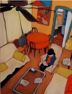 Reading, by Jean-Michel Blanc