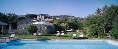 Monastero San Silvestro Cortona visto dalla piscina al sale marino