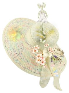 """""""My Easter Bonnet 🐥🐇😀"""" by ragnh-mjos ❤ liked on Polyvore featuring art"""