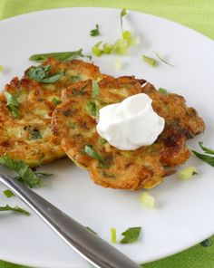 Zucchini Feta Pancakes by whatmegansmaking #Zucchini #Pancakes #whatmegansmaking