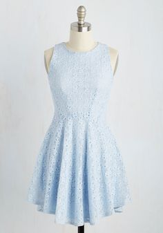 Sights Dulcet on You Dress. Whether it's a full-blown recital or living room lip-syncing sesh, youll look and feel like a star in this powder blue dress! #blue #modcloth