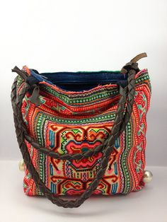 Colorful Boho Shoulder Bag, Butterflies and flowers tribal symbolic Cross Stitch, Ethnic, Gypsy Style 5 | Flickr - Photo Sharing!