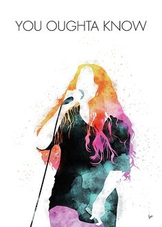 MY Alanis Morissette Watercolor Music poster by Chungkong Art Rock Hall Of Fame, Famous Music Artists, Jagged Little Pill, Alanis Morissette, Music Decor, Music Posters, Medium Art, Watercolor Paintings, Digital Art