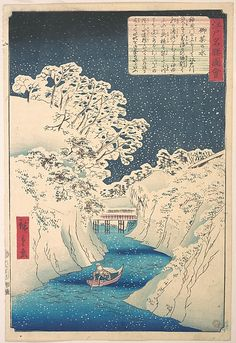 Utagawa Hiroshige (Japanese, 1797–1858). Ochanomizu, Edo period (1615–1868). The Metropolitan Museum of Art, New York. Rogers Fund, 1919 (JP1128) #snow