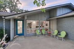 Image result for mid century exterior house paint gray examples