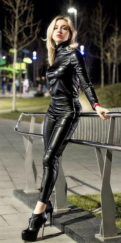 Black Leather Dresses, Blonde Women, Heeled Boots, Leather Pants, Punk, Marvel, Heels, Sexy, Outfits