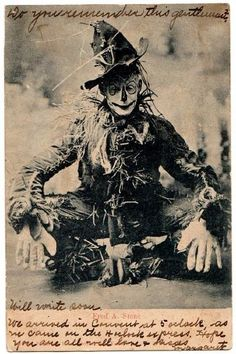 Souvenir postcard of the Scarecrow from the 1903 production of The Wizard of Oz.