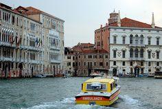 Venetian Water Ambulance (Ambulanza) on the Grand Canal