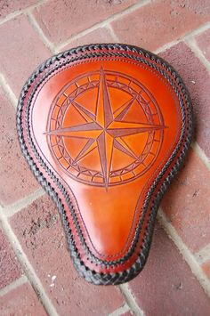 Chop Cult - This seat has the mexican round braid lacing and extra deco lacing and hand stitching. This is the seat on my bike right now Motorcycle Seats, Motorcycle Leather, Bike Seat, Motorcycle Style, Motorcycle Accessories, Motorcycle Humor, Motorcycle Garage, Leather Carving, Leather Art