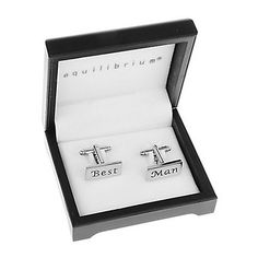 Rectangle Best Man Cufflinks. Unique gifts available from the Bride and Groom including personalised items and keepsakes.