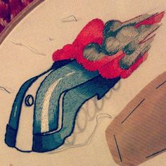 #inprogress#embroidery #train #mounshak