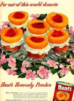 vintage ad - Hunts Peachy Cupcakes