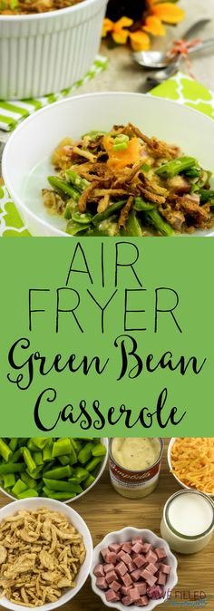 Do you love green bean casserole? Ever wondered what the history was? How about how to fix it in the airfryer? I am covering all that and more! #greenbeancasserole #AirFryer #campbells #greenbeans via @AFHomemaker