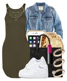 """Am I The Only Person Whos Ready For School?"" by ariangrant ❤ liked on Polyvore featuring H&M, Michael Kors, Yves Saint Laurent, Enza Costa, Forever 21, NARS Cosmetics, ASOS and 473"