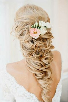 Gorgeous big plait wedding hair
