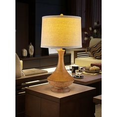 30.5-inch tall table lamp.