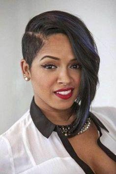 One side bob haircuts for black women #hairstylesforblackwomen