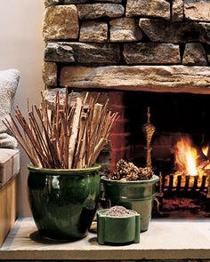Made me think of your fire place Des! I this might be a great way for you to store kindling and paper and look great next to the fire place too!
