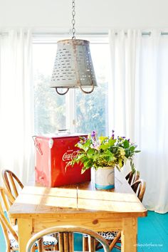 Take a tour of gorgeous Ebbtide Cottage on Tybee Island.  Tons of beautiful beach-y cottage details!