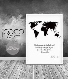 travel quote map quote world map world map print world map quote quote print travel quotes world map decor quote poster map decor