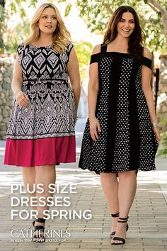 Plus size dresses for spring events. Shop Catherines Plus Sizes at catherines.com for dresses designed exclusively for sizes 0X-5X and 16W-34W. Z