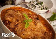 Dupla sajtos rakott padlizsán | Nosalty Hungarian Cuisine, Hungarian Recipes, Hungarian Food, Paleo Recipes, Baking Recipes, Paleo Food, Healthy Food, Lasagna, Macaroni And Cheese