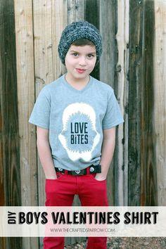 DIY Boys Valentine's Shirt - thecraftedsparrow.com