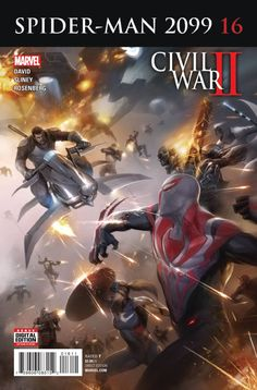 MARVEL COMICS (W) Peter David (A) Will Sliney (CA) Francesco Mattina CIVIL WAR II TIE-IN! • Caught in the clutches of the malignant CEO of ALCHEMAX, the future looks bleak for Spider-Man and his allie