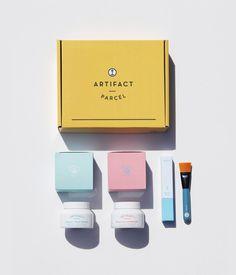 Parcel no.1: Masque Duo Kit – Artifact Skin Co. Facial Masks, Kit, Branding, Packaging, Face Masks, Brand Management, Wrapping, Identity Branding, Facials