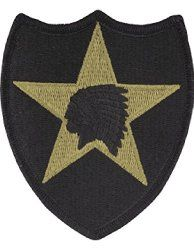 2nd Infantry Division ACU Patch with Hook Fastener