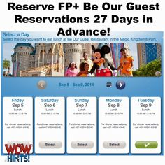 How to Secure a #FP+ #Lunch Reservation at #BeOurGuest ~ WDW Hints