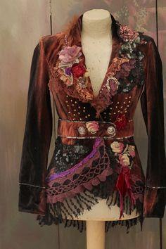 Steampunk princess jacket ornate wearable art bohemian
